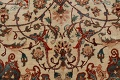 Antique 100% Vegetable Dye Isfahan Persian Area Rug 4x6 image 10
