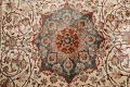 Antique 100% Vegetable Dye Isfahan Persian Area Rug 4x6 image 11