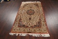Antique 100% Vegetable Dye Isfahan Persian Area Rug 4x6 image 16
