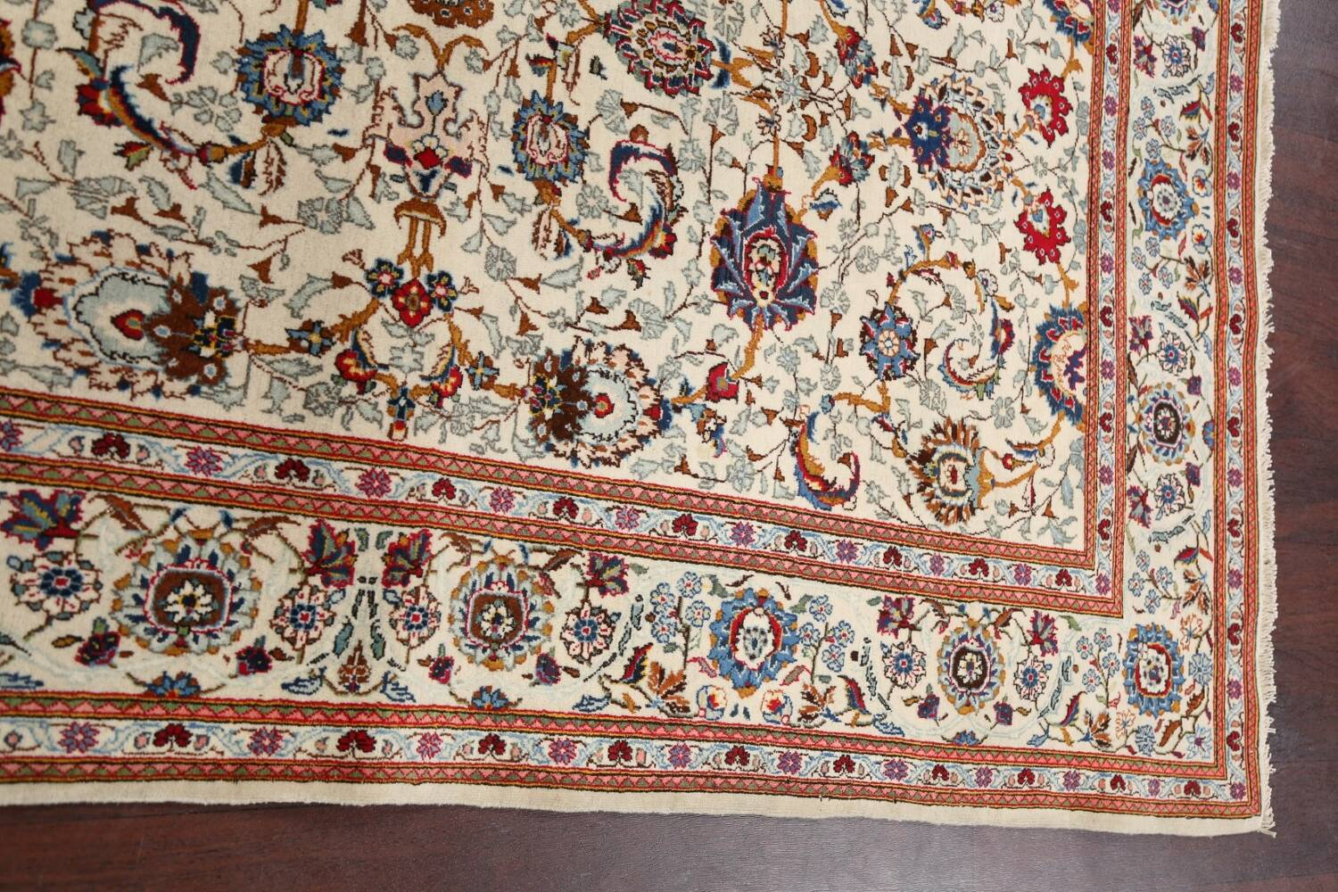 100% Vegetable Dye Floral Kashan Persian Area Rug 4x7 image 12