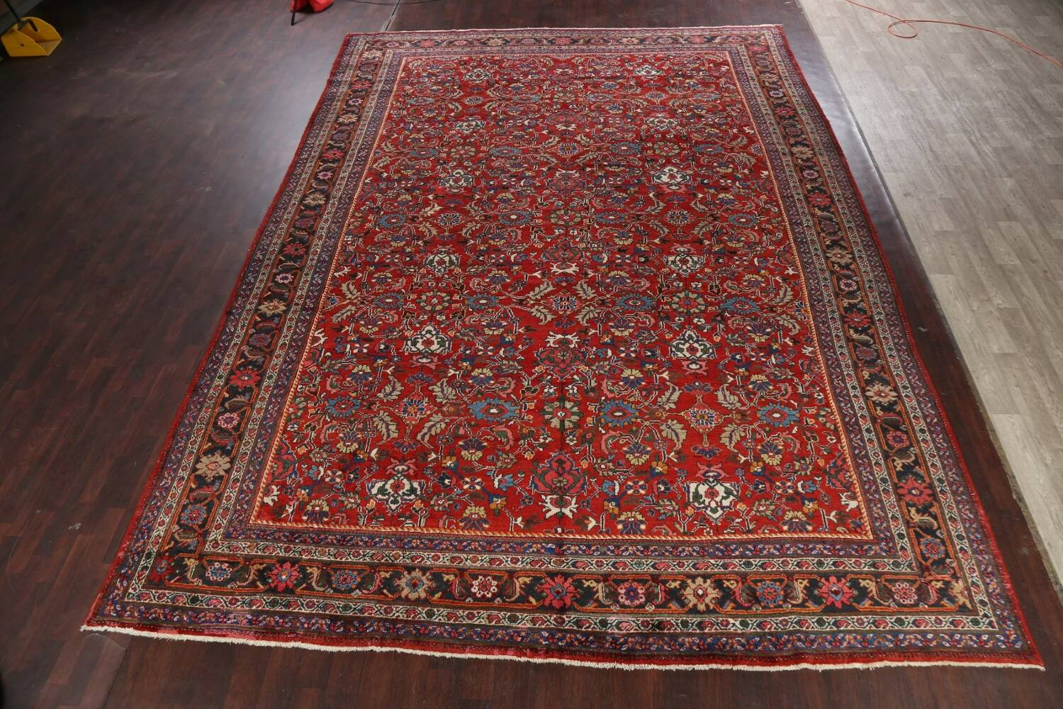 Antique 100% Vegetable Dye Sultanabad Persian Area Rug 12x17 image 2