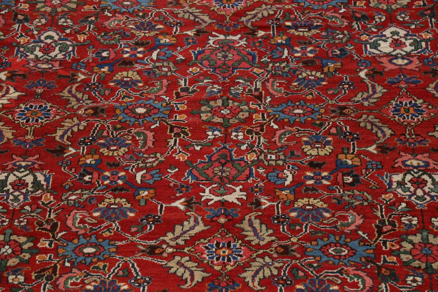 Antique 100% Vegetable Dye Sultanabad Persian Area Rug 12x17 image 4