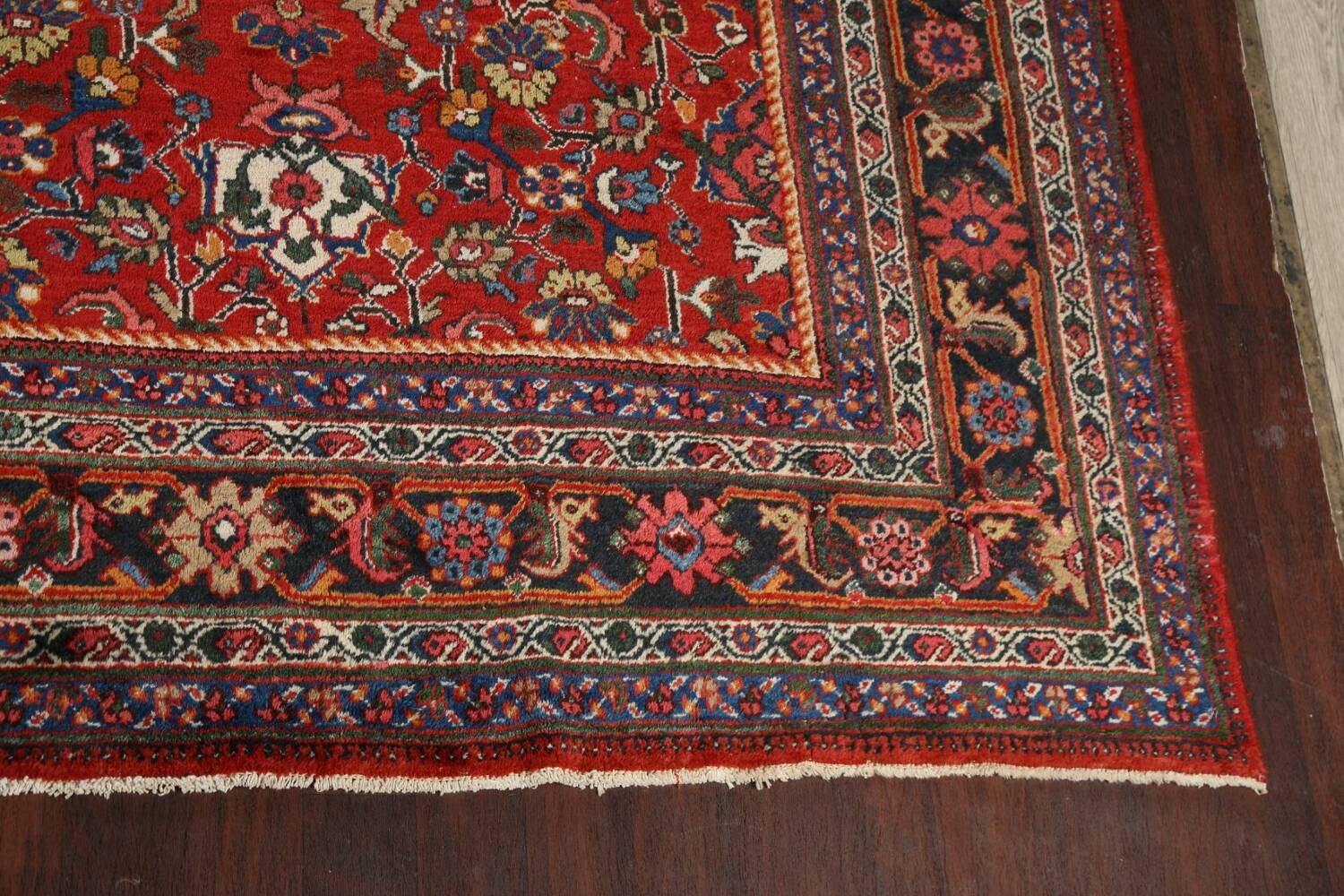Antique 100% Vegetable Dye Sultanabad Persian Area Rug 12x17 image 5