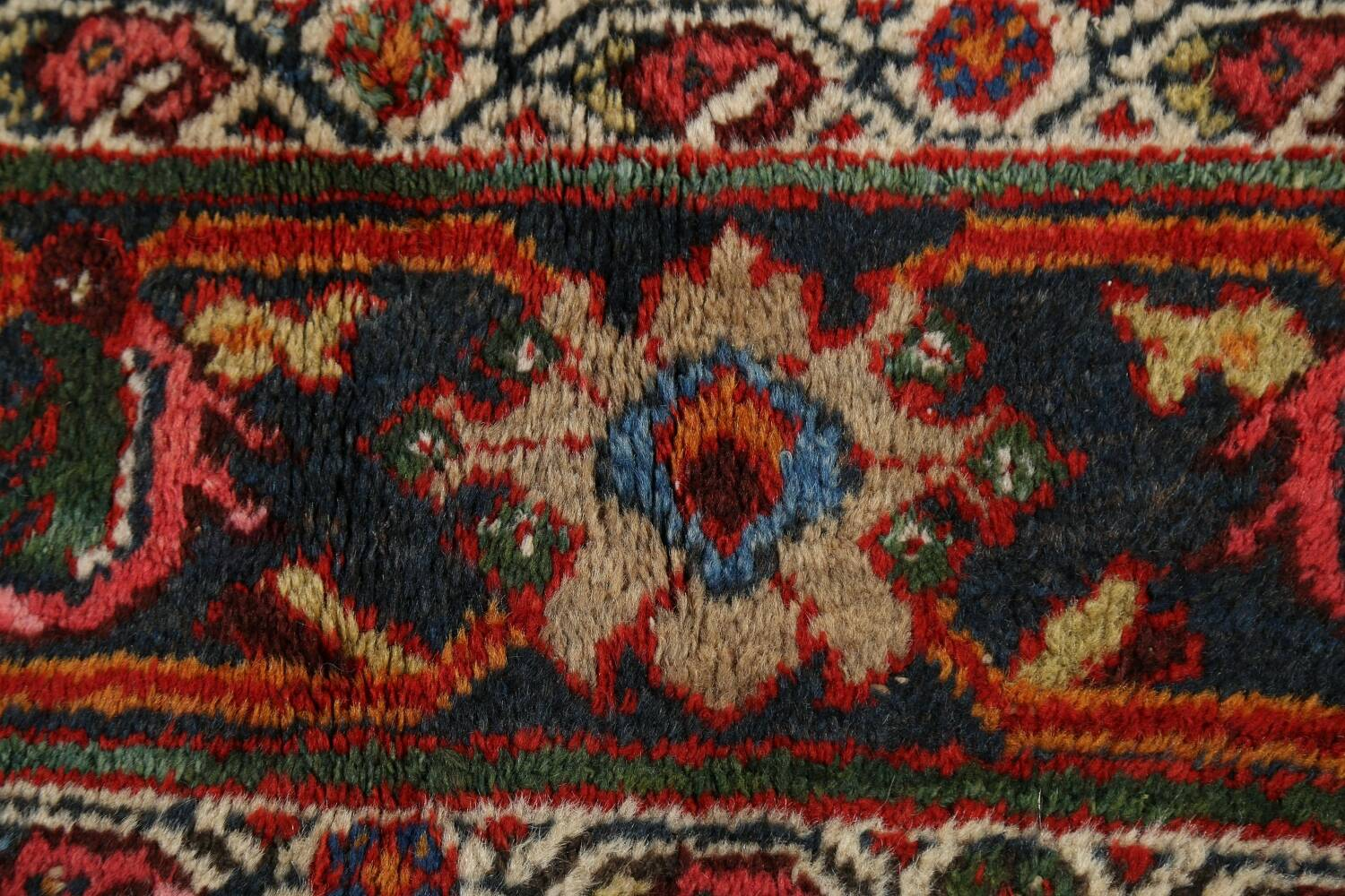 Antique 100% Vegetable Dye Sultanabad Persian Area Rug 12x17 image 9