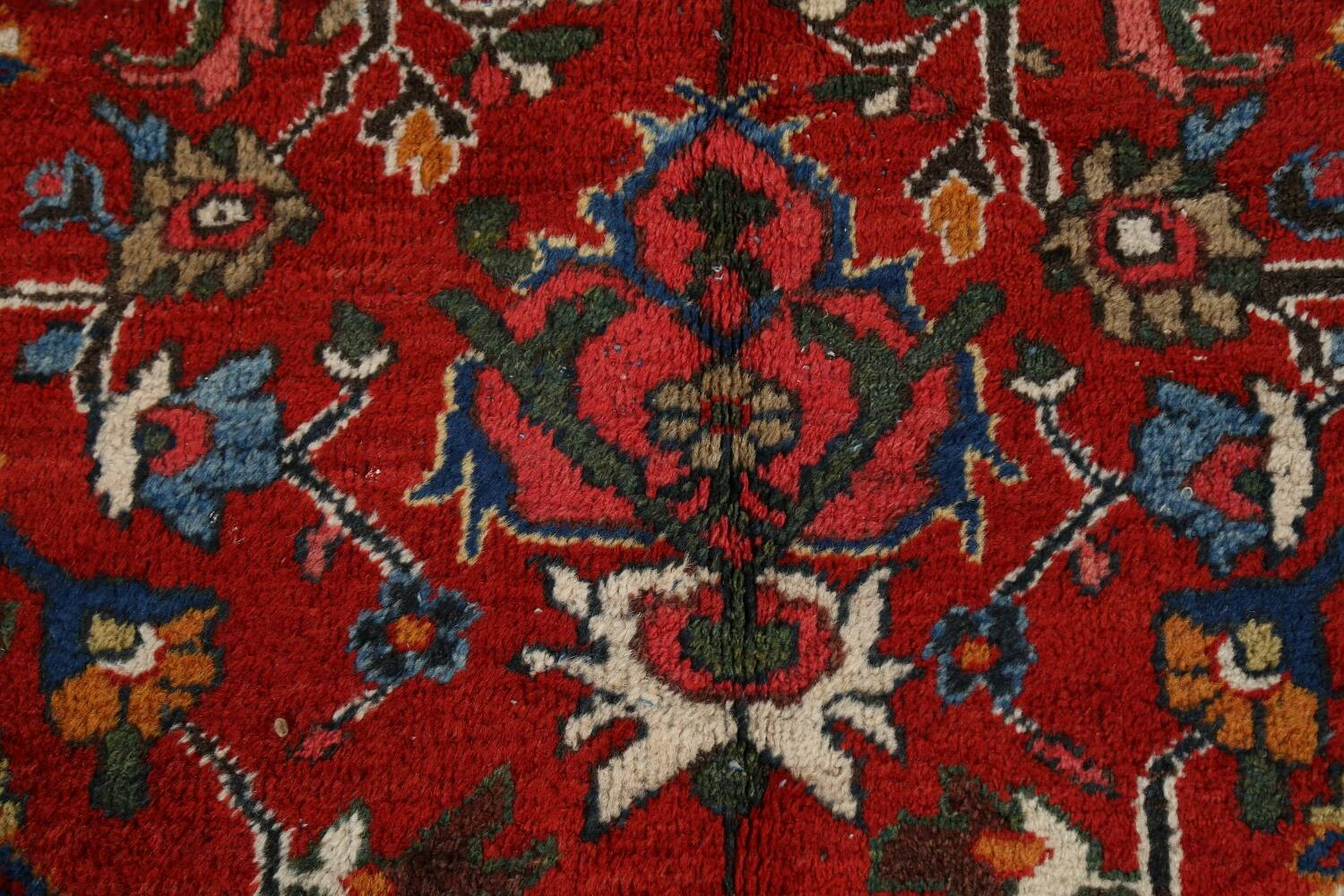 Antique 100% Vegetable Dye Sultanabad Persian Area Rug 12x17 image 10