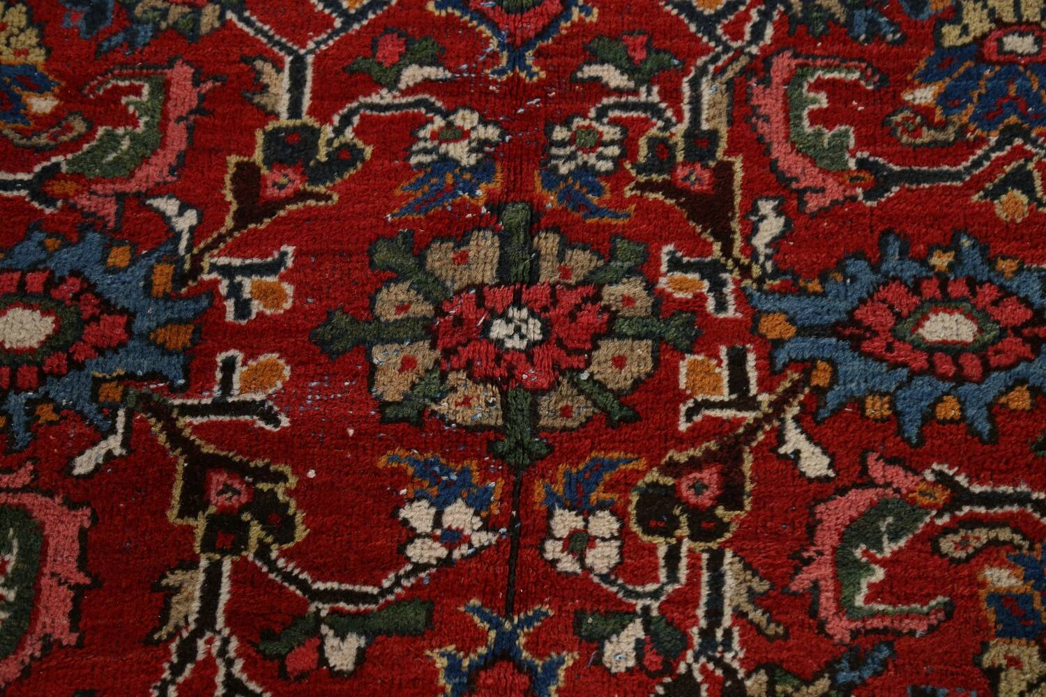 Antique 100% Vegetable Dye Sultanabad Persian Area Rug 12x17 image 11