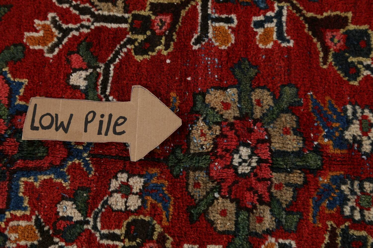 Antique 100% Vegetable Dye Sultanabad Persian Area Rug 12x17 image 13