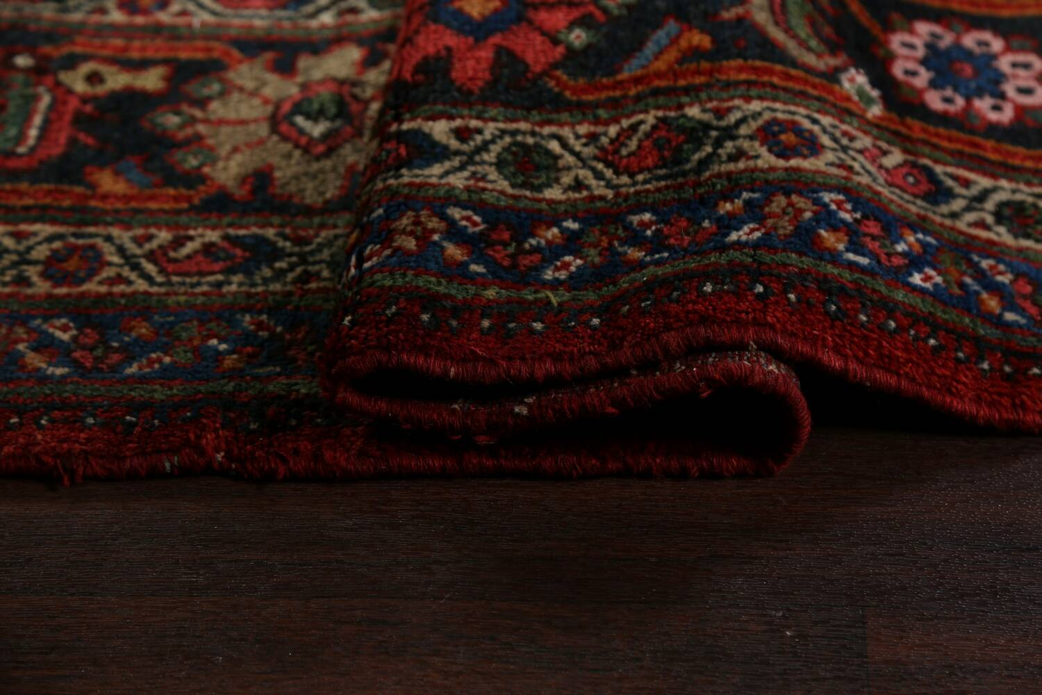 Antique 100% Vegetable Dye Sultanabad Persian Area Rug 12x17 image 15