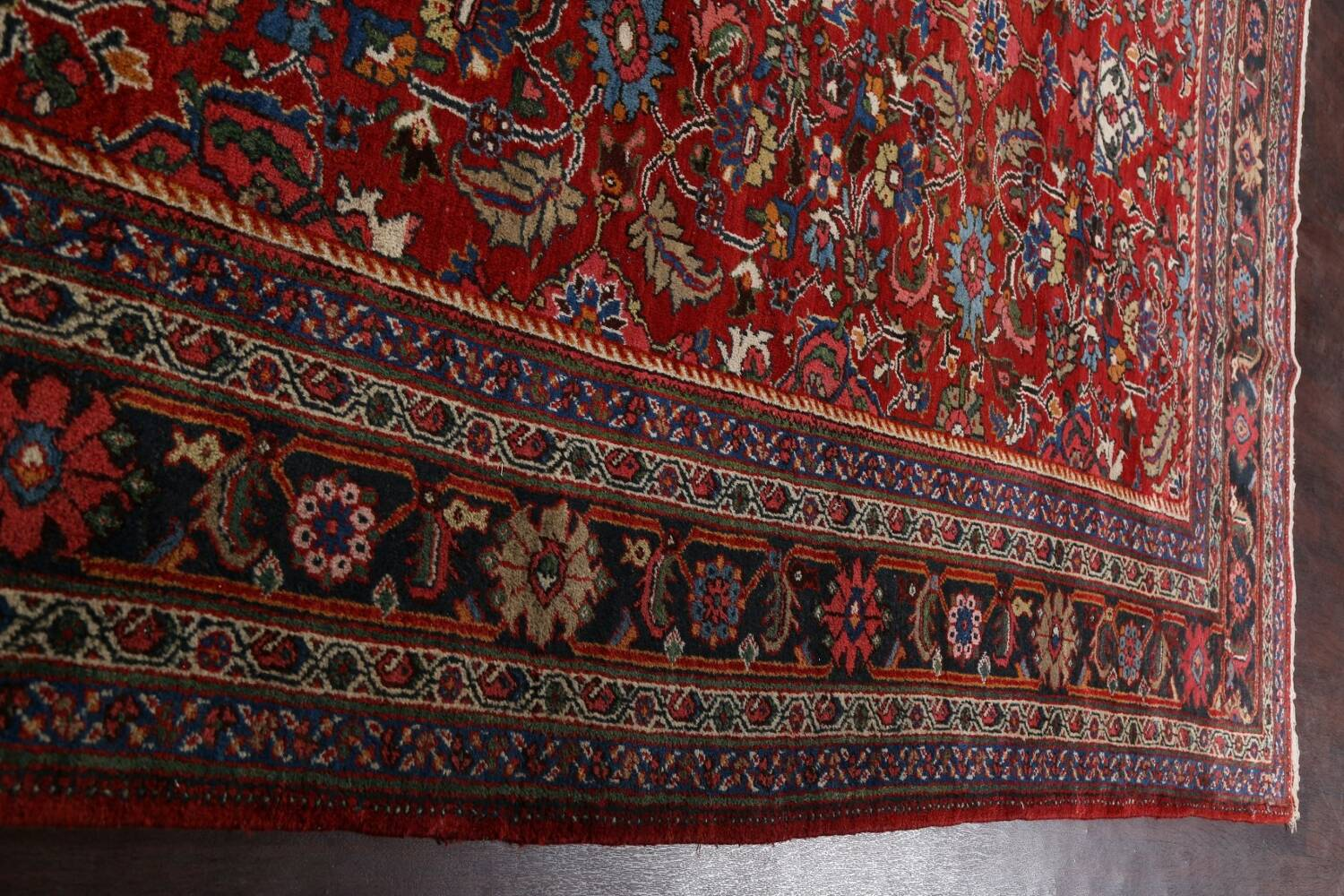 Antique 100% Vegetable Dye Sultanabad Persian Area Rug 12x17 image 16