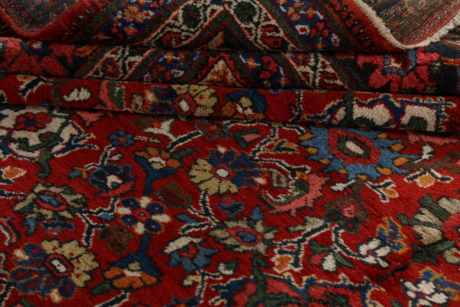 Antique 100% Vegetable Dye Sultanabad Persian Area Rug 12x17 image 19