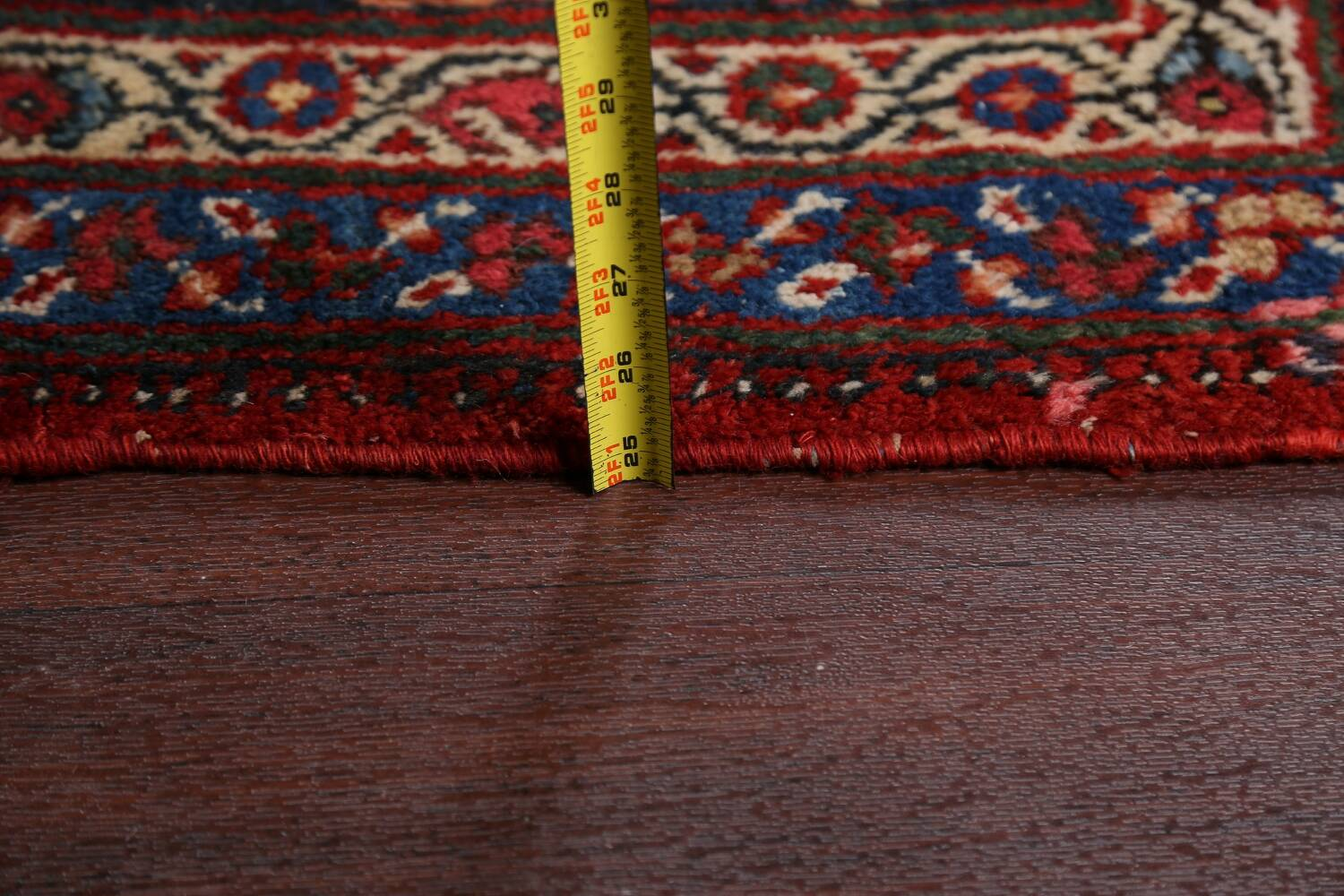 Antique 100% Vegetable Dye Sultanabad Persian Area Rug 12x17 image 22