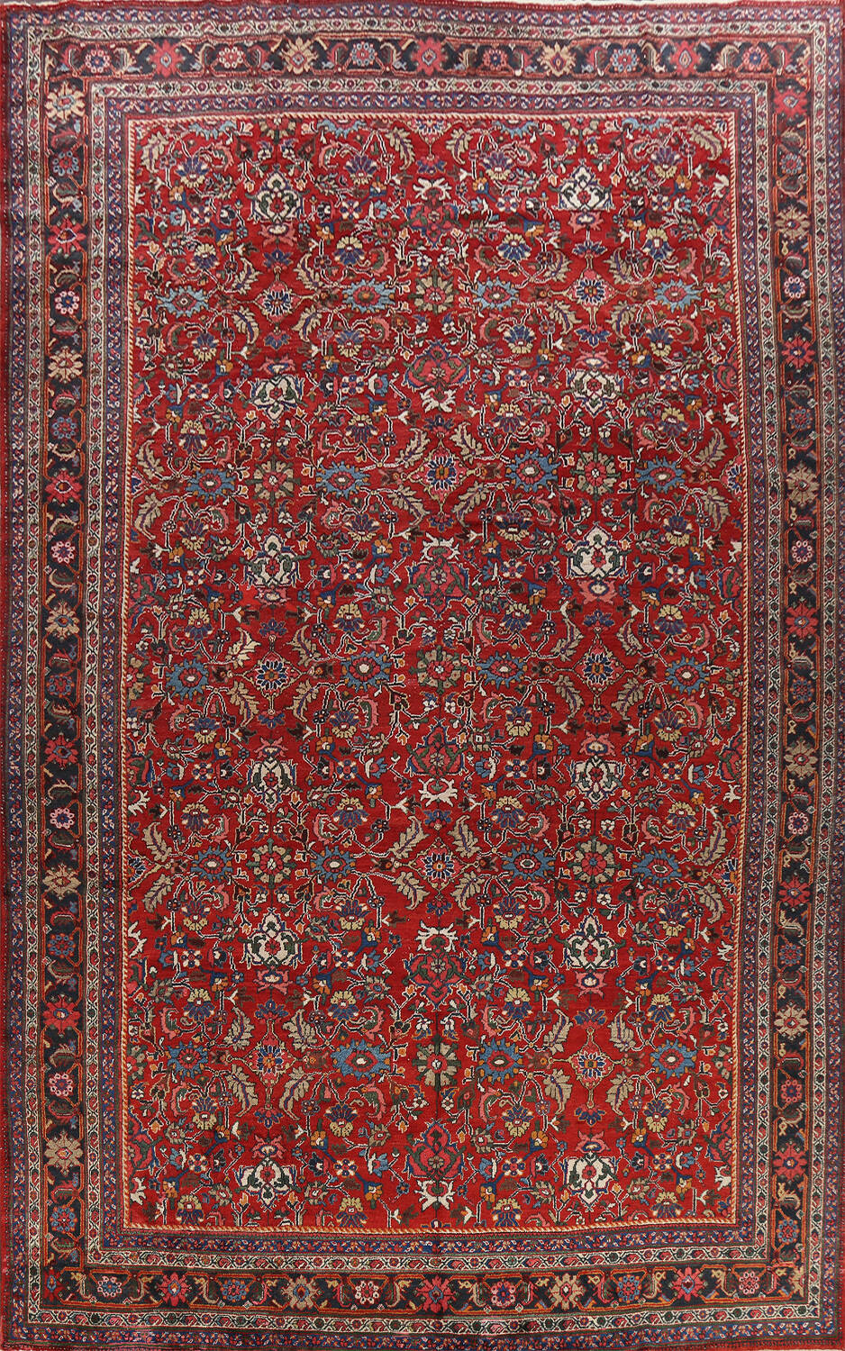 Antique 100% Vegetable Dye Sultanabad Persian Area Rug 12x17 image 1