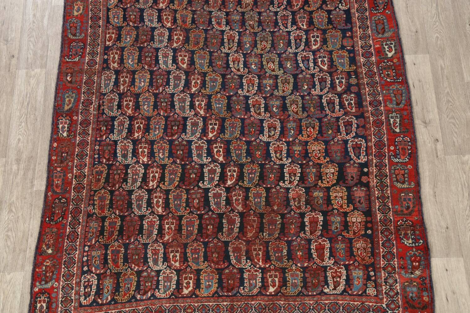 Pre-1900 Antique All-Over Malayer Persian Area Rug 6x7 image 3