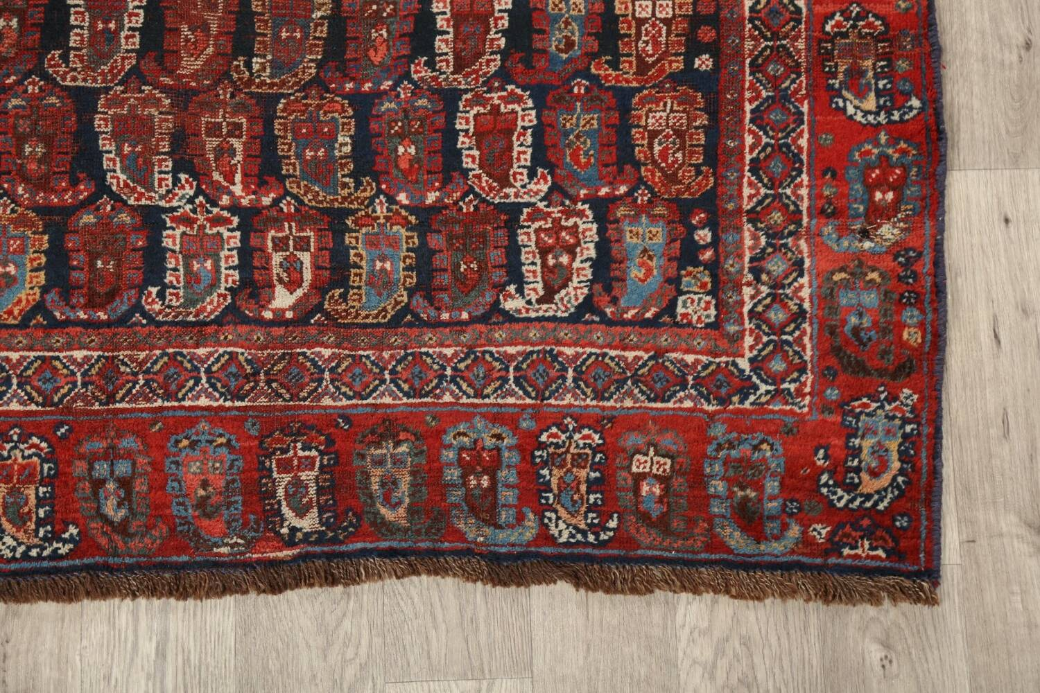 Pre-1900 Antique All-Over Malayer Persian Area Rug 6x7 image 5