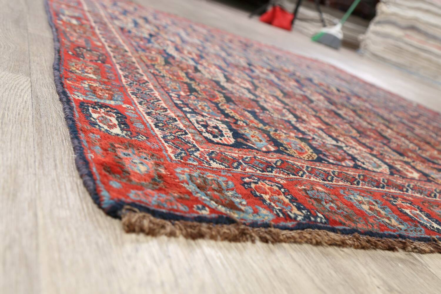Pre-1900 Antique All-Over Malayer Persian Area Rug 6x7 image 6