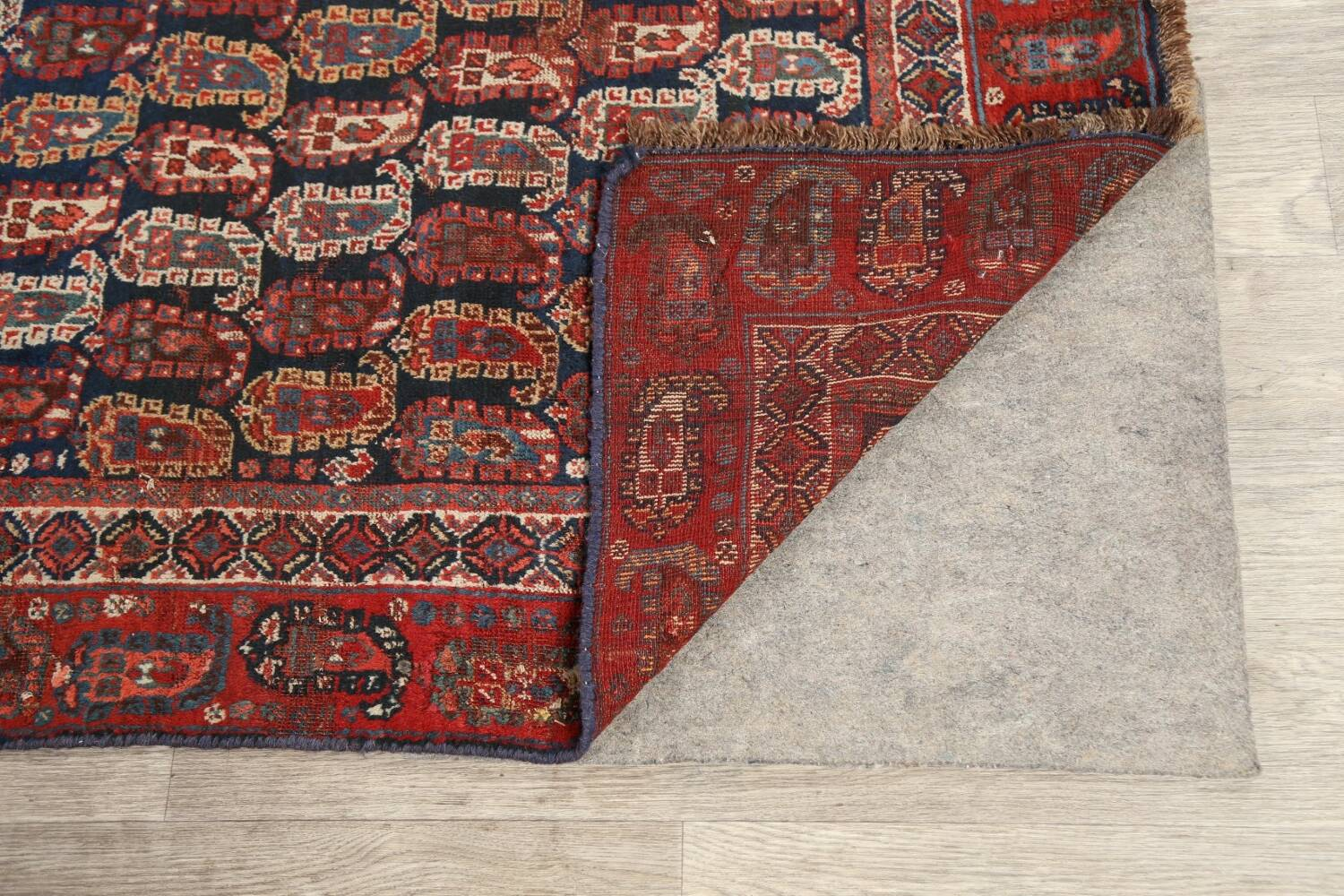 Pre-1900 Antique All-Over Malayer Persian Area Rug 6x7 image 7