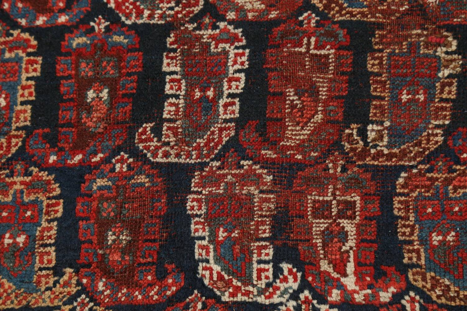 Pre-1900 Antique All-Over Malayer Persian Area Rug 6x7 image 9