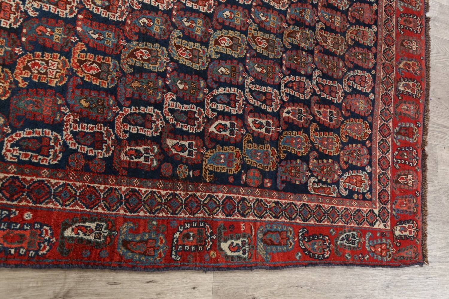 Pre-1900 Antique All-Over Malayer Persian Area Rug 6x7 image 14