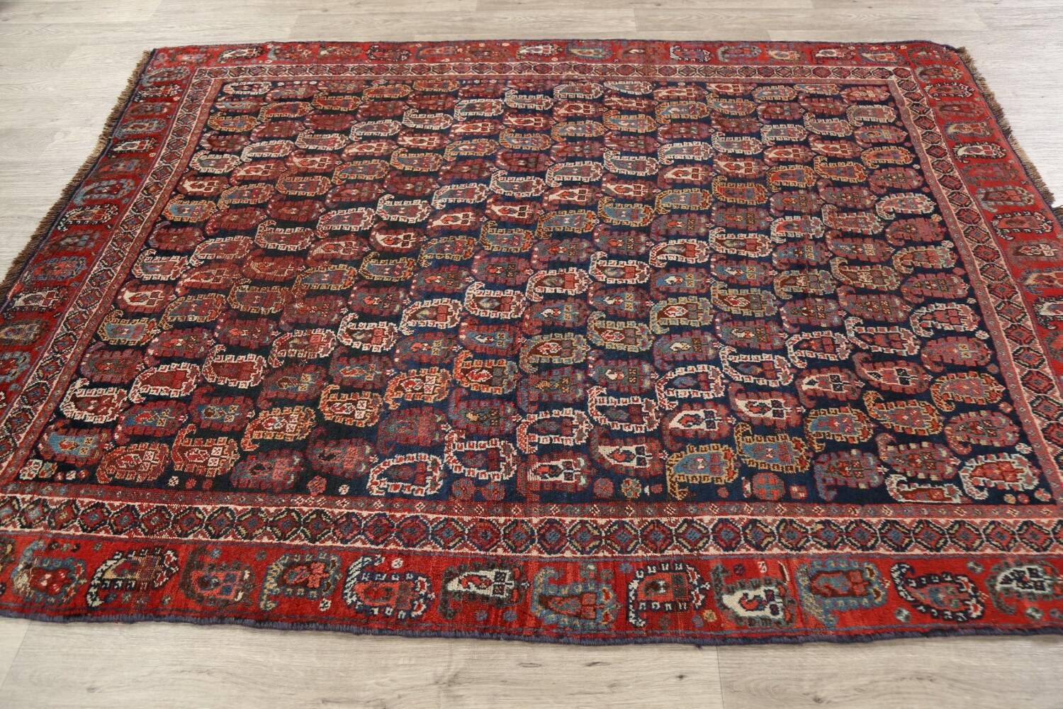 Pre-1900 Antique All-Over Malayer Persian Area Rug 6x7 image 15
