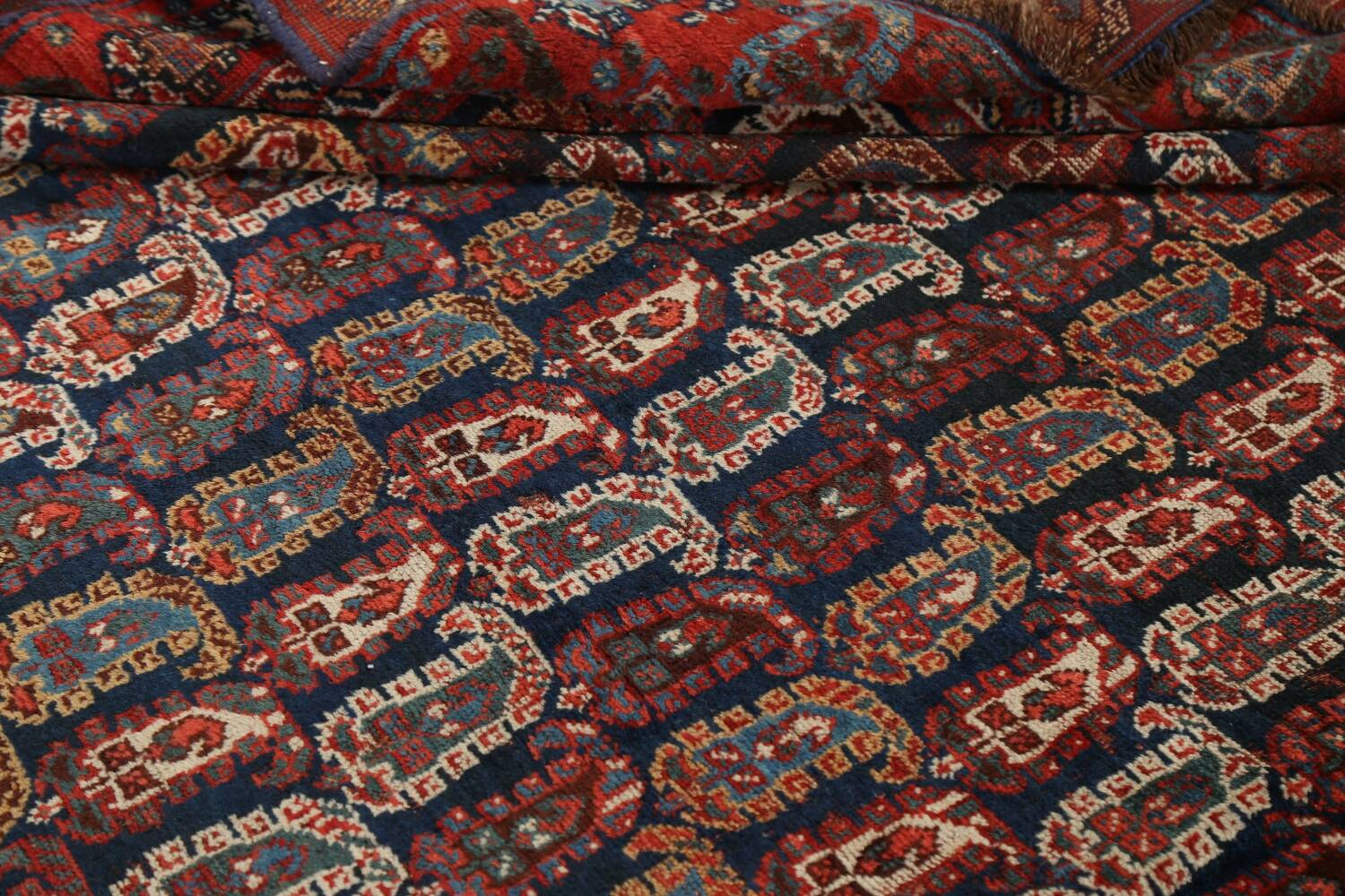 Pre-1900 Antique All-Over Malayer Persian Area Rug 6x7 image 17