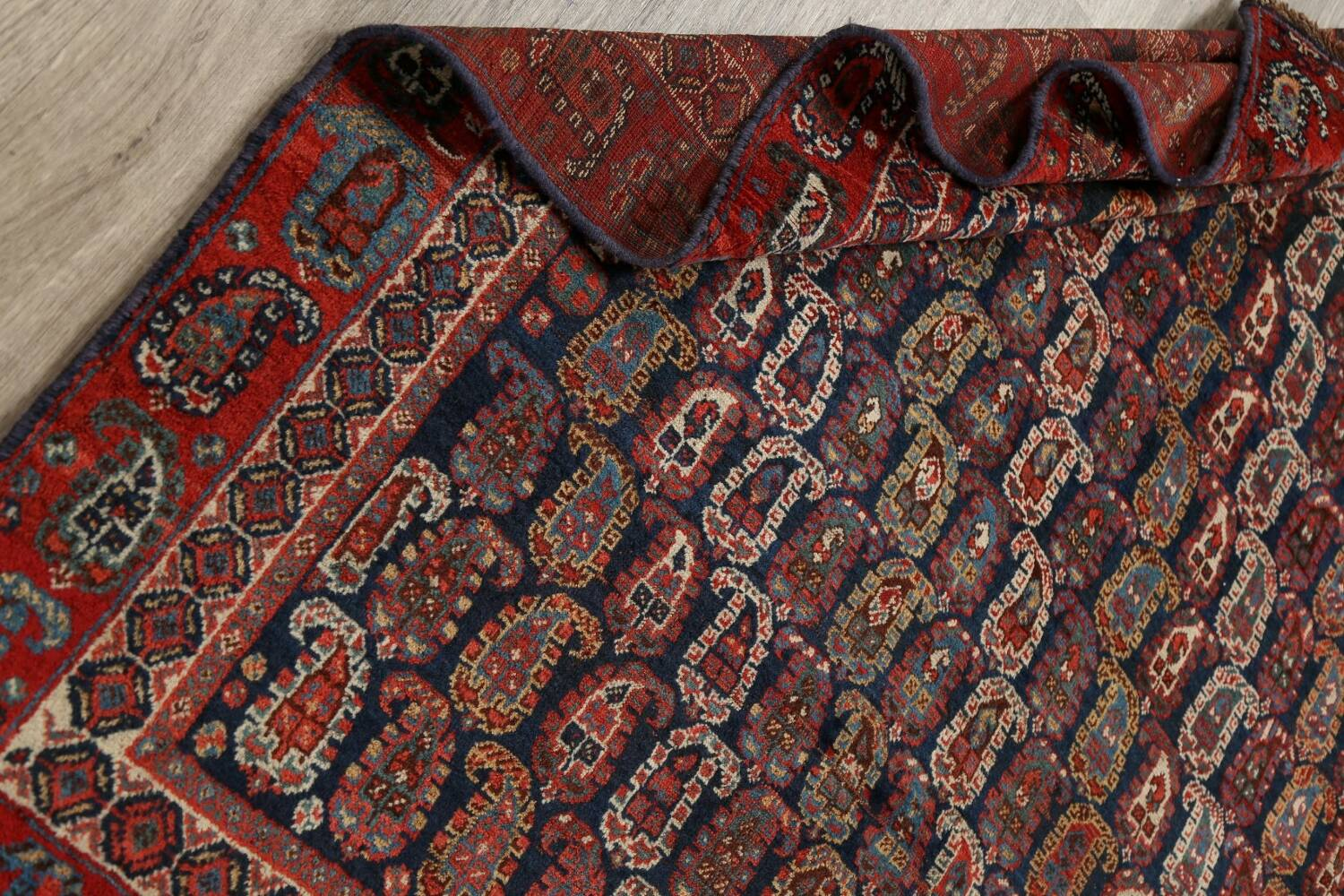 Pre-1900 Antique All-Over Malayer Persian Area Rug 6x7 image 18