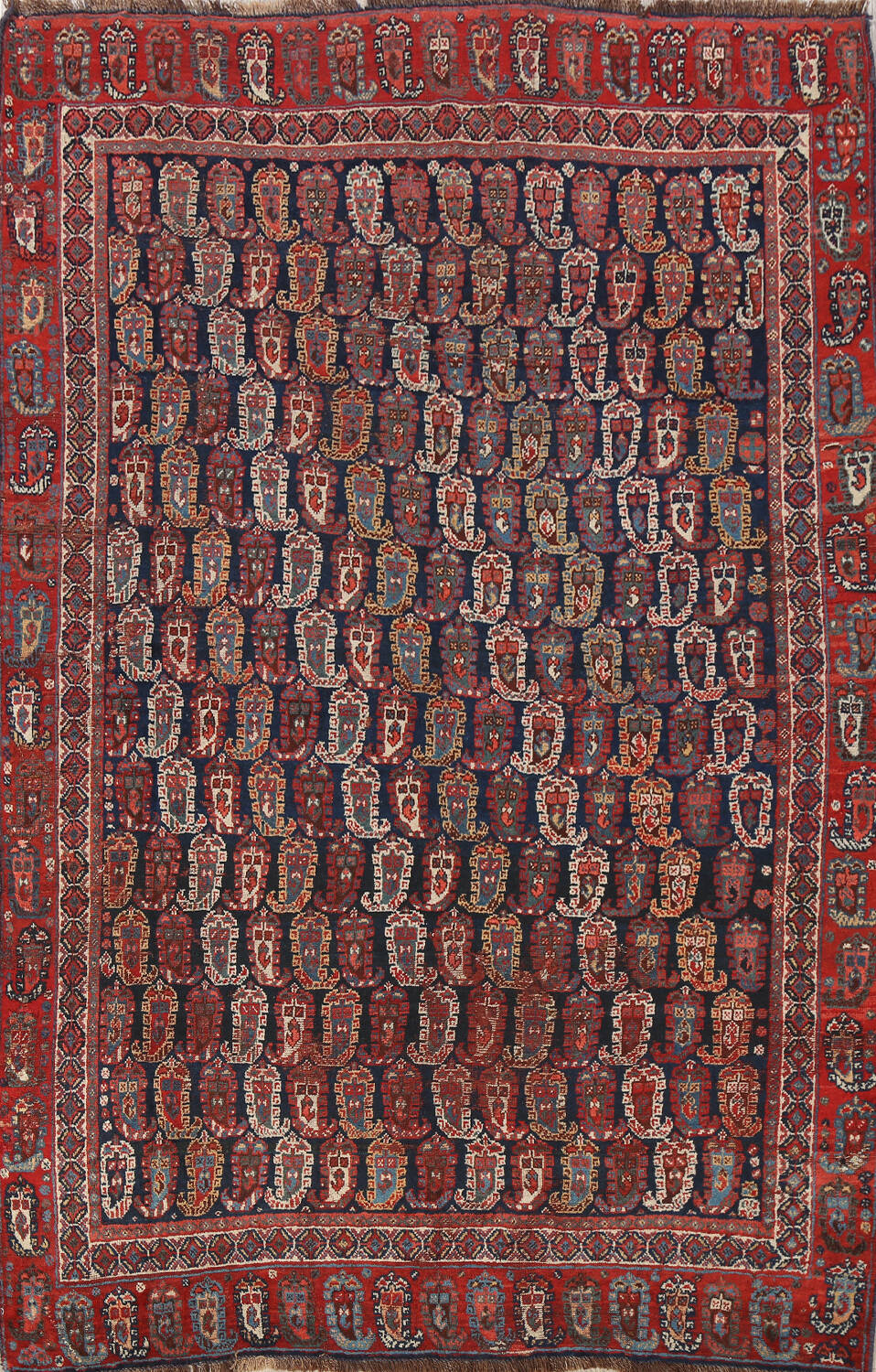 Pre-1900 Antique All-Over Malayer Persian Area Rug 6x7 image 1