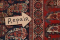 Pre-1900 Antique All-Over Malayer Persian Area Rug 6x7 image 11