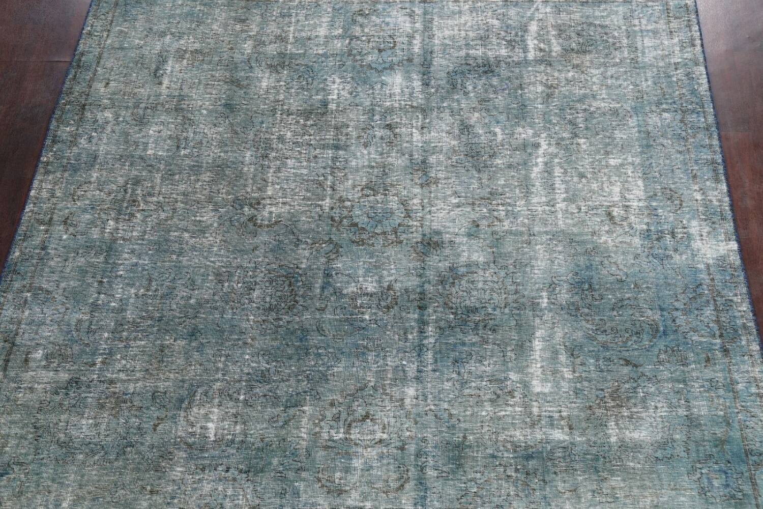Distressed Over-dyed Tabriz Persian Area Rug 8x8 Square image 3