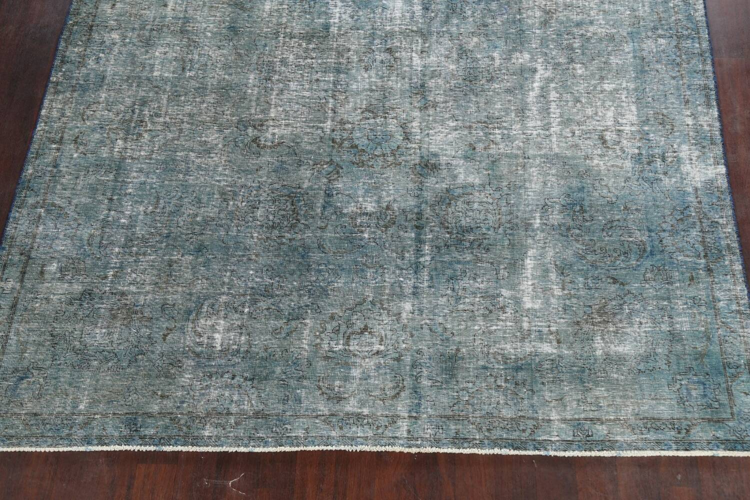 Distressed Over-dyed Tabriz Persian Area Rug 8x8 Square image 8