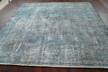 Distressed Over-dyed Tabriz Persian Area Rug 8x8 Square image 15