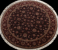Vegetable Dye Round Floral Tabriz Persian Area Rug 8x8 image 1