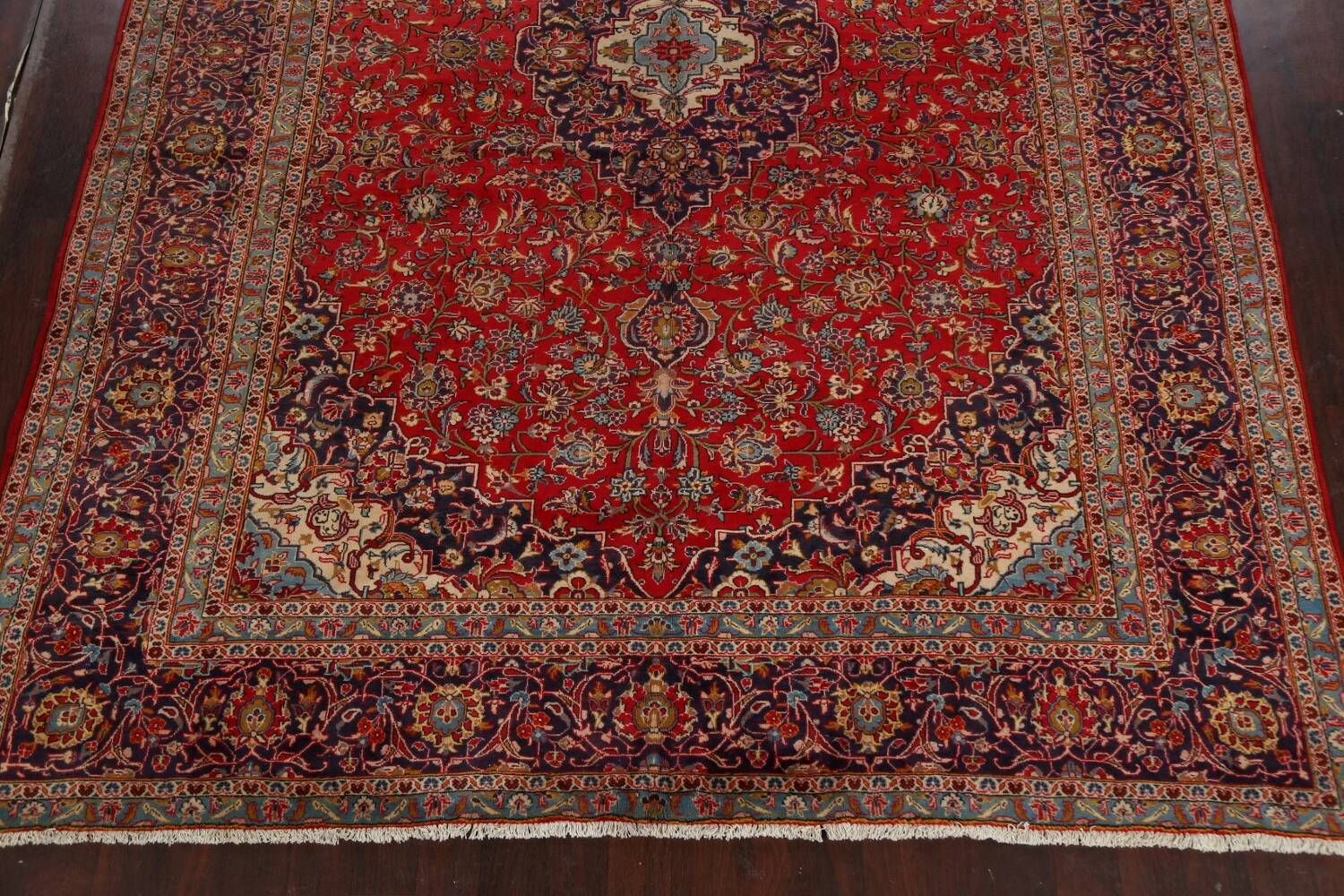 Traditional Floral Kashan Persian Area Rug 10x13 image 8