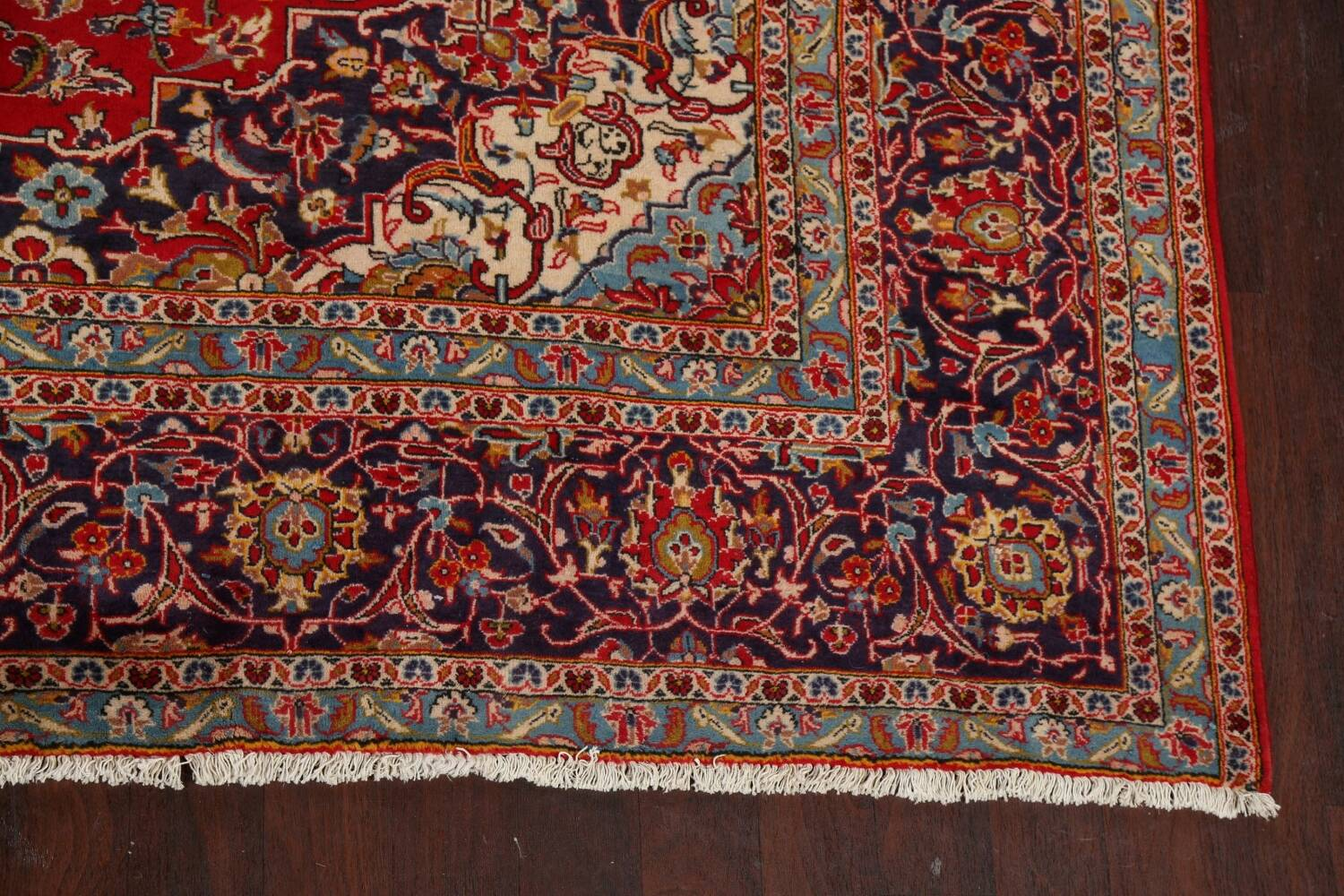 Traditional Floral Kashan Persian Area Rug 10x13 image 5