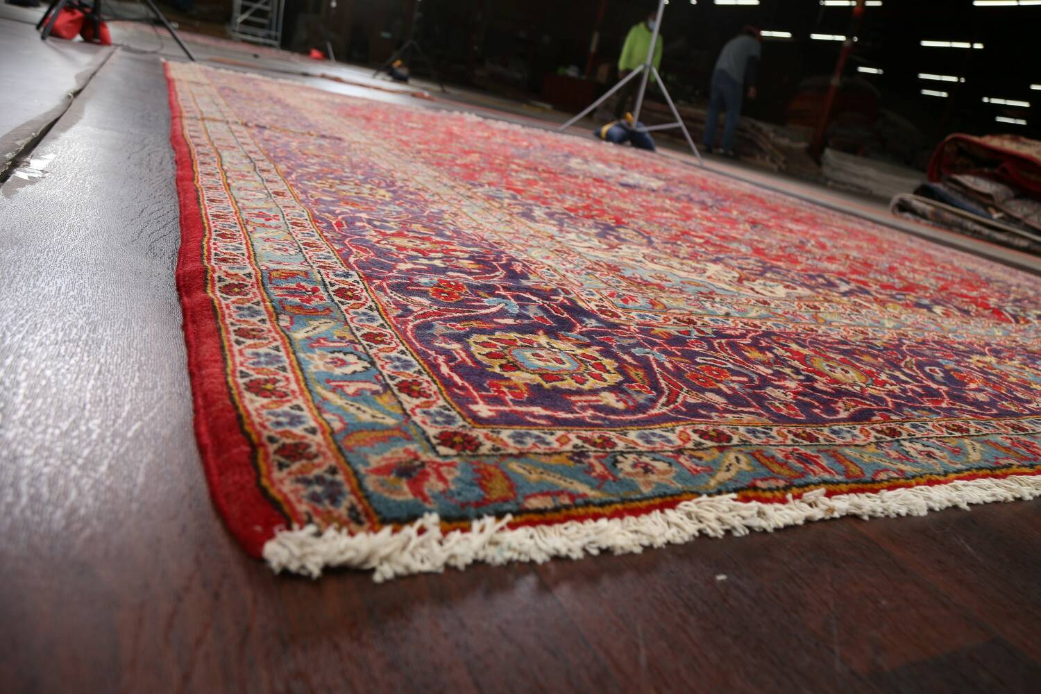 Traditional Floral Kashan Persian Area Rug 10x13 image 6
