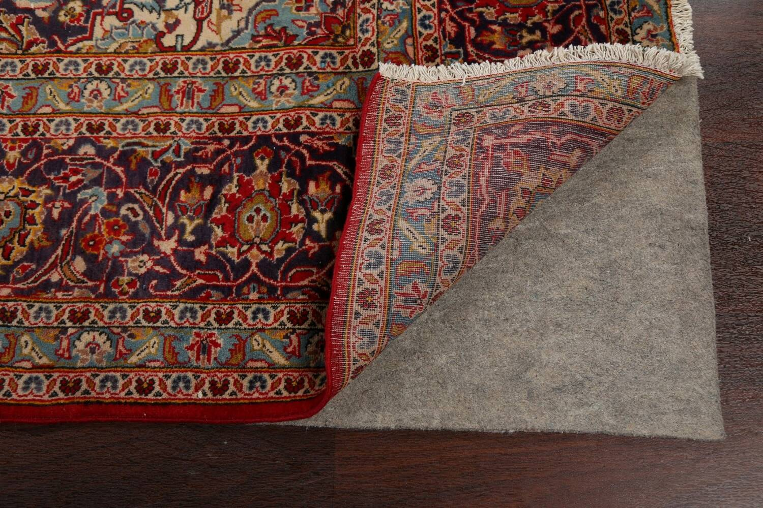 Traditional Floral Kashan Persian Area Rug 10x13 image 7