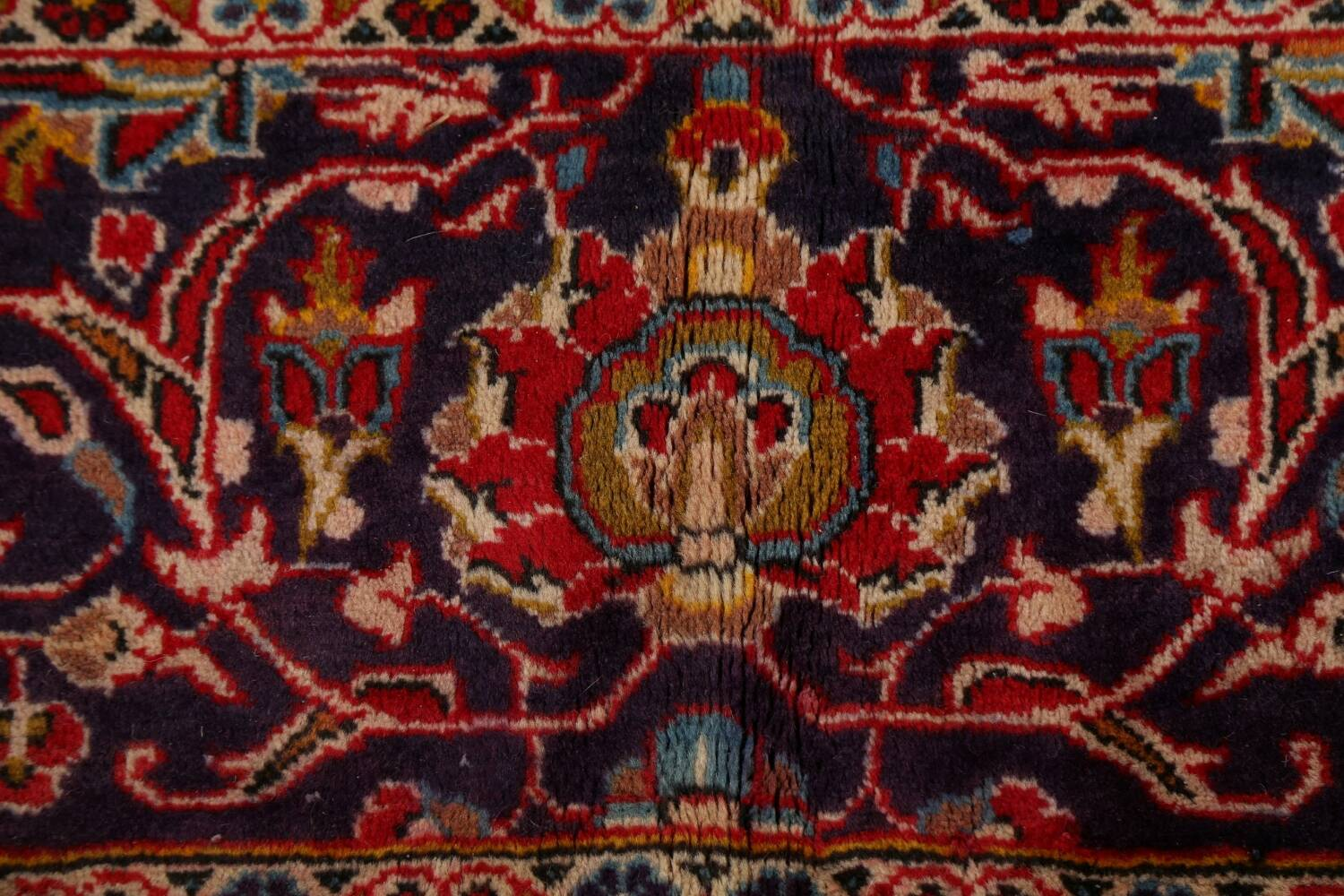 Traditional Floral Kashan Persian Area Rug 10x13 image 9