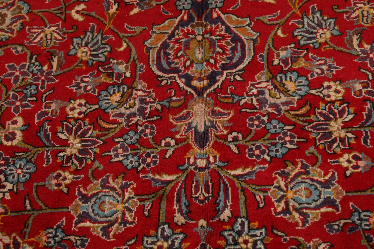 Traditional Floral Kashan Persian Area Rug 10x13 image 10