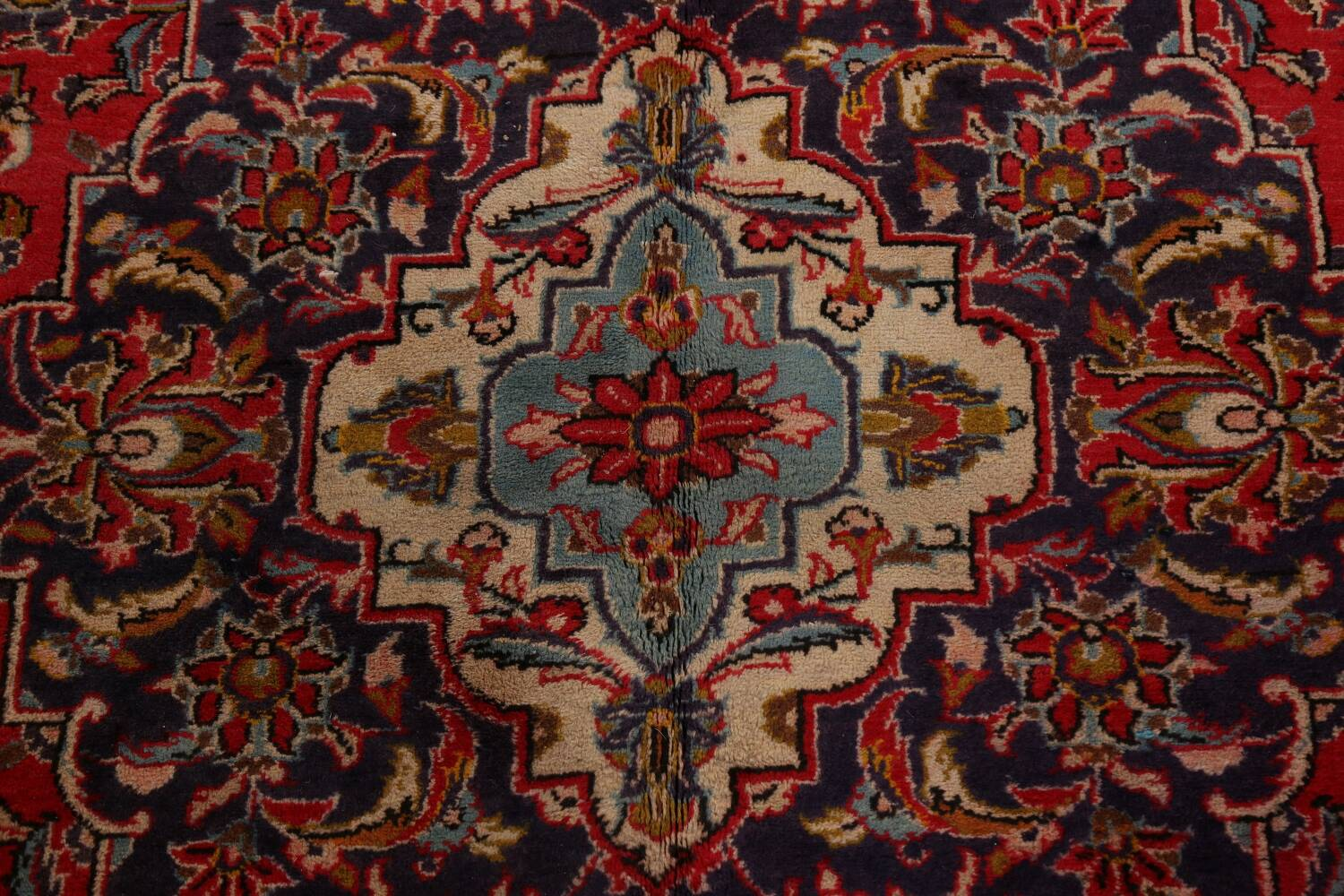 Traditional Floral Kashan Persian Area Rug 10x13 image 11