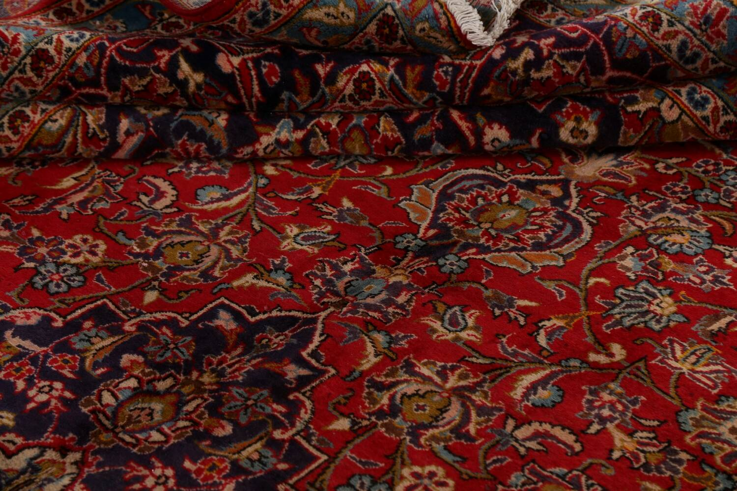 Traditional Floral Kashan Persian Area Rug 10x13 image 17