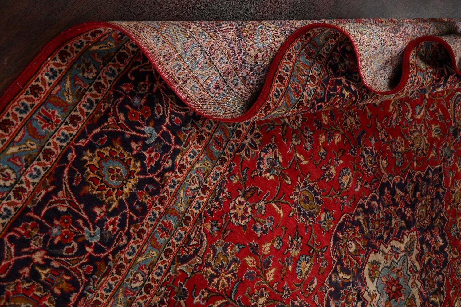 Traditional Floral Kashan Persian Area Rug 10x13 image 18