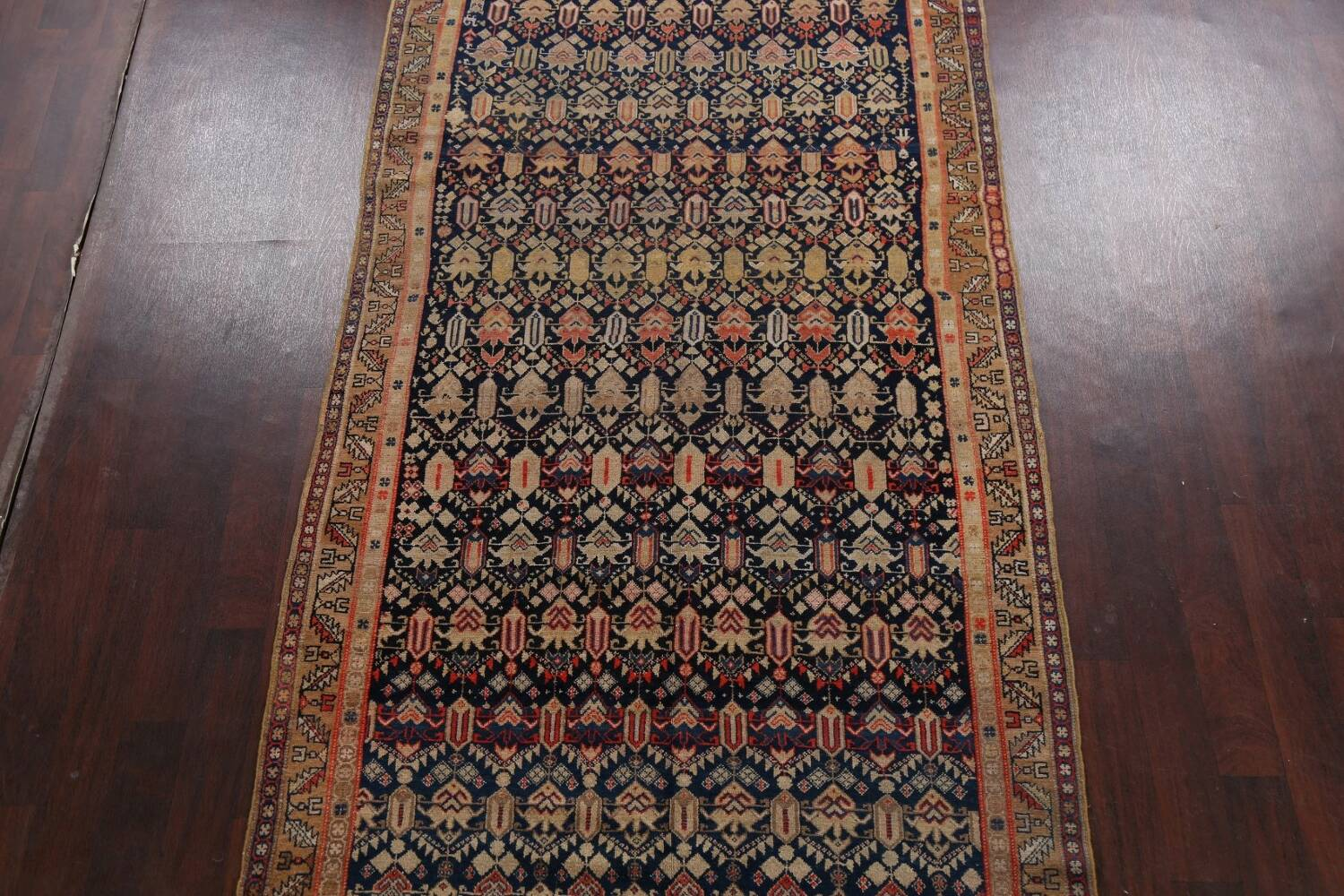 Pre-1900 Antique Vegetable Dye Malayer Persian Area Rug 5x11 image 3