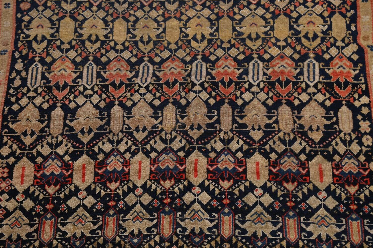 Pre-1900 Antique Vegetable Dye Malayer Persian Area Rug 5x11 image 4