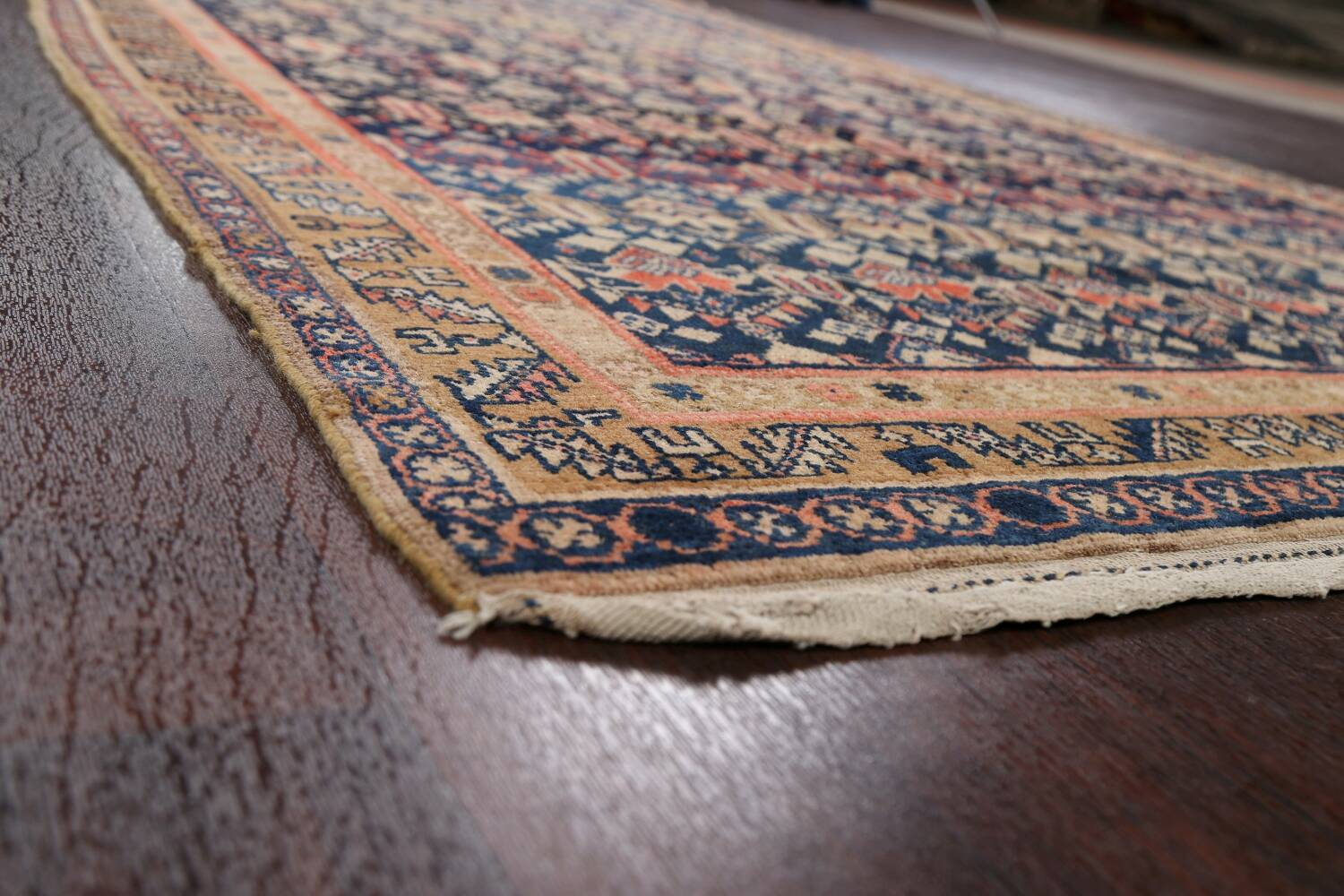 Pre-1900 Antique Vegetable Dye Malayer Persian Area Rug 5x11 image 6