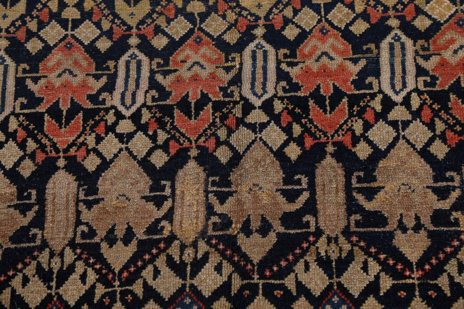 Pre-1900 Antique Vegetable Dye Malayer Persian Area Rug 5x11 image 10