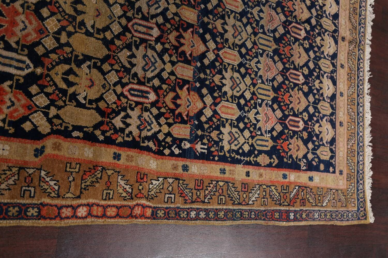 Pre-1900 Antique Vegetable Dye Malayer Persian Area Rug 5x11 image 13