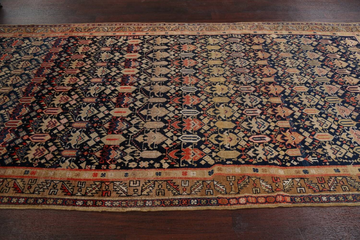 Pre-1900 Antique Vegetable Dye Malayer Persian Area Rug 5x11 image 14