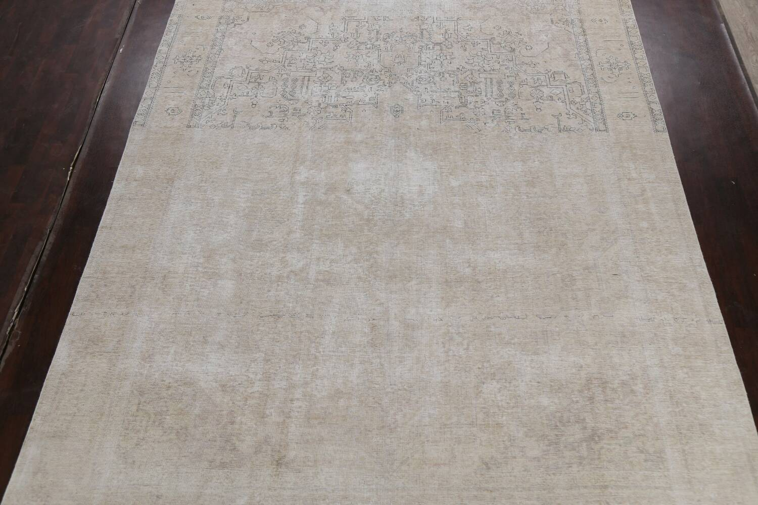 Muted Distressed Tabriz Persian Area Rug 10x12 image 3