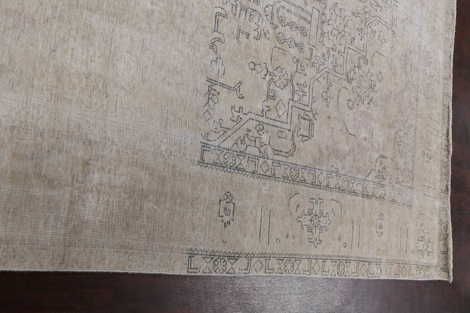 Muted Distressed Tabriz Persian Area Rug 10x12 image 14