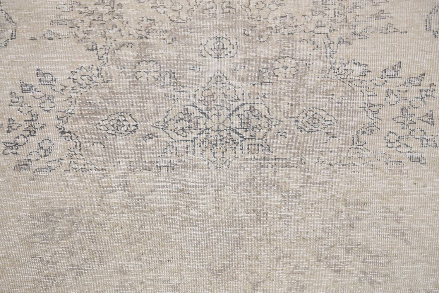 Muted Distressed Floral Tabriz Persian Area Rug 6x8 image 4
