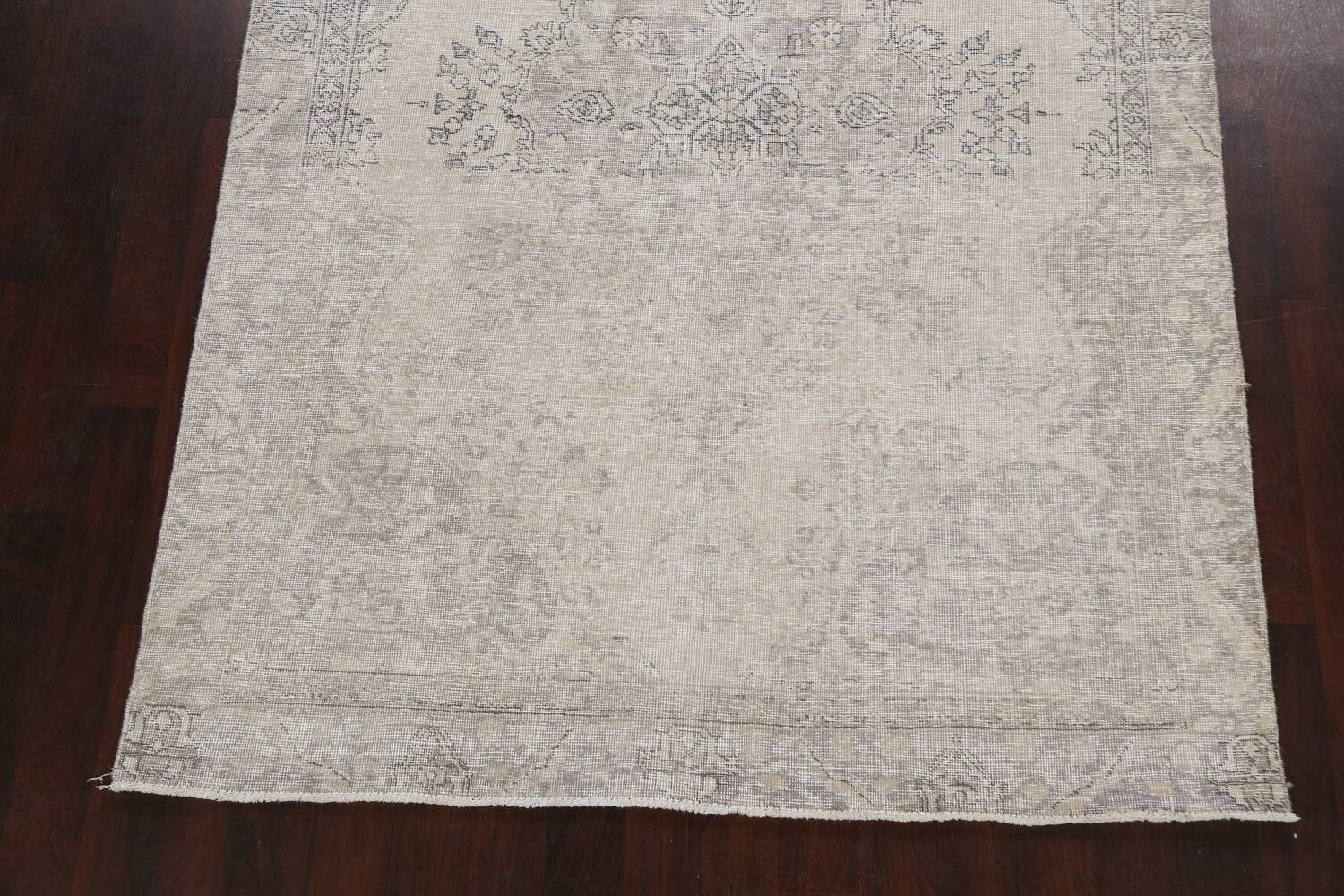 Muted Distressed Floral Tabriz Persian Area Rug 6x8 image 8